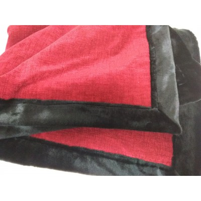 Red and black  sleigh lap robe 50x58 inch